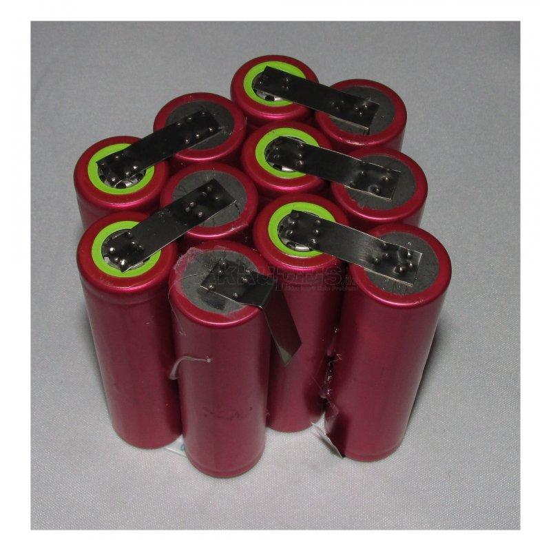 Akkupack für Tauchlampe BERSUB - 13,2 Volt zum Selbsteinbau