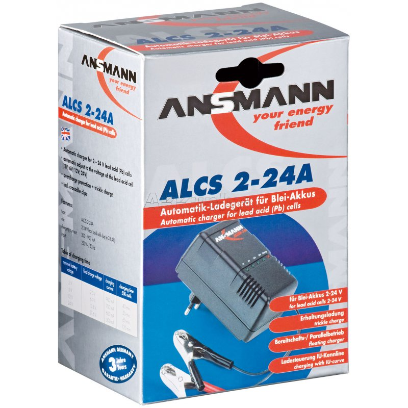 ALCS 2-24A - Automatik-Steckerladegerät für 2 bis 24 Volt Blei-Akkus