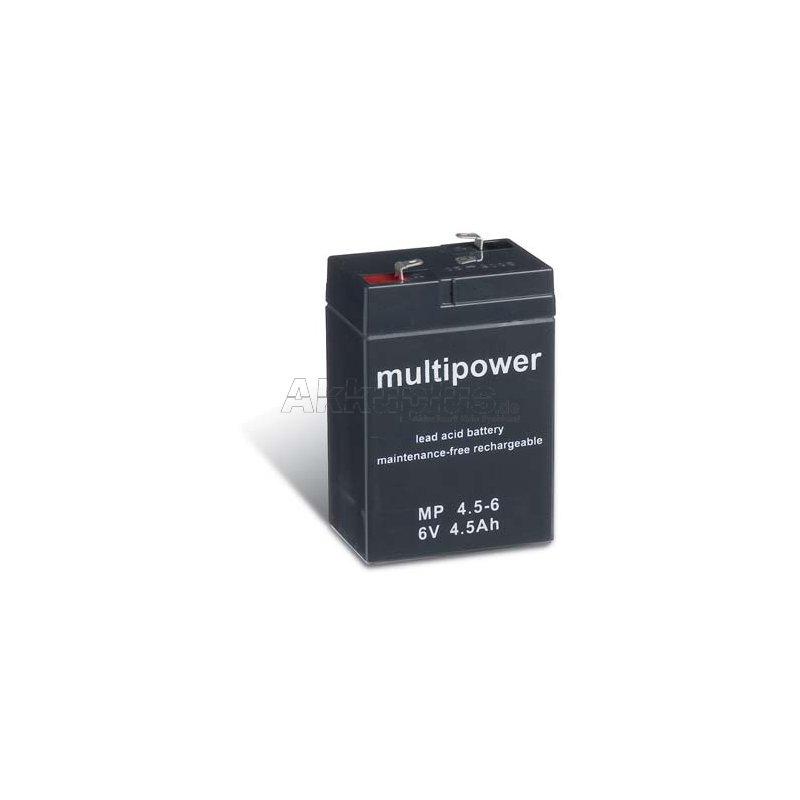 MP4.5-6 - 6 Volt 4,5 Ah Pb