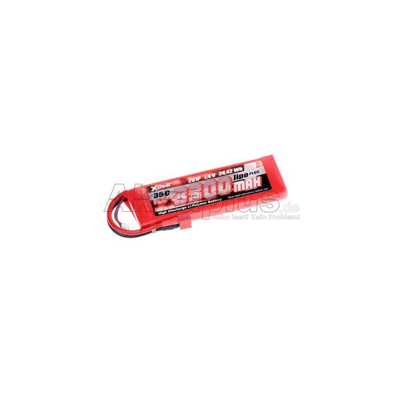 LiPo PLUS Pack 3300 2S1P 35C - 7,4 Volt 3300mAh Li-Poly