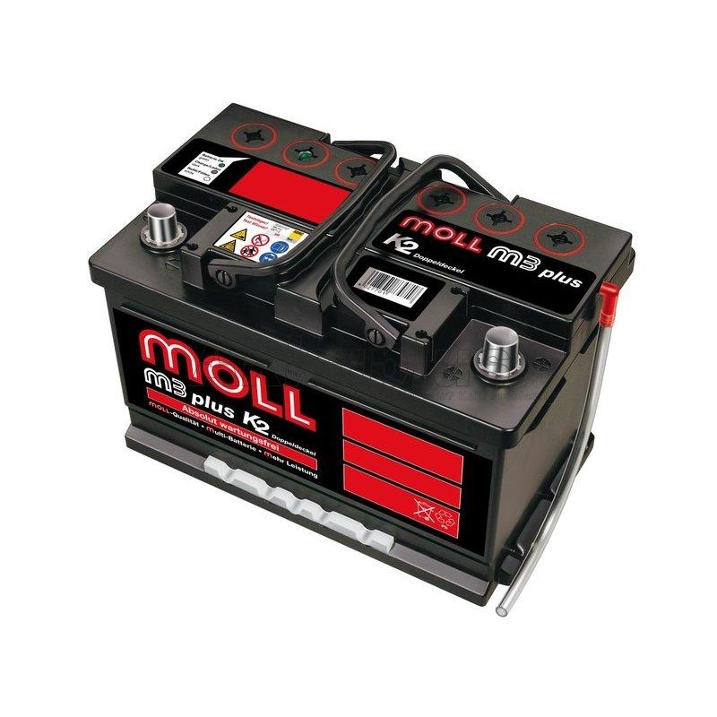 MOLL - M3 plus K2 - 83075 Autobatterie - 12 Volt 75Ah 680A (EN)