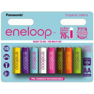 eneloop - Tropical Limited Edition - BK-3MCCE/8PE - Mignon AA - 1,2 Volt 2000mAh Ni-MH - 8er Blister