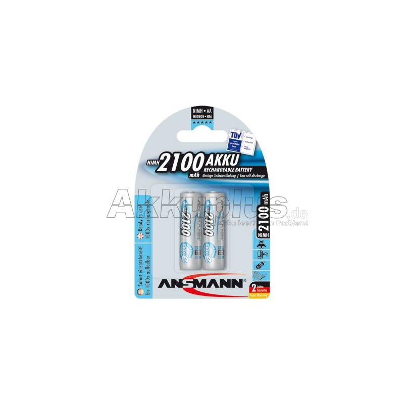 maxE - 1,2 Volt 2100mAh Ni-MH - Ready to use - 2er Blister