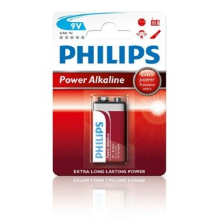 Philips Powerlife - 6LF22 9V-Block - 1,5 Volt Alkali-Mangan