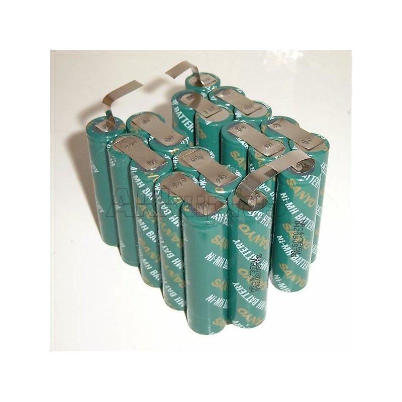 Akkupack für Makita BH2433 - 24 Volt zum Selbsteinbau