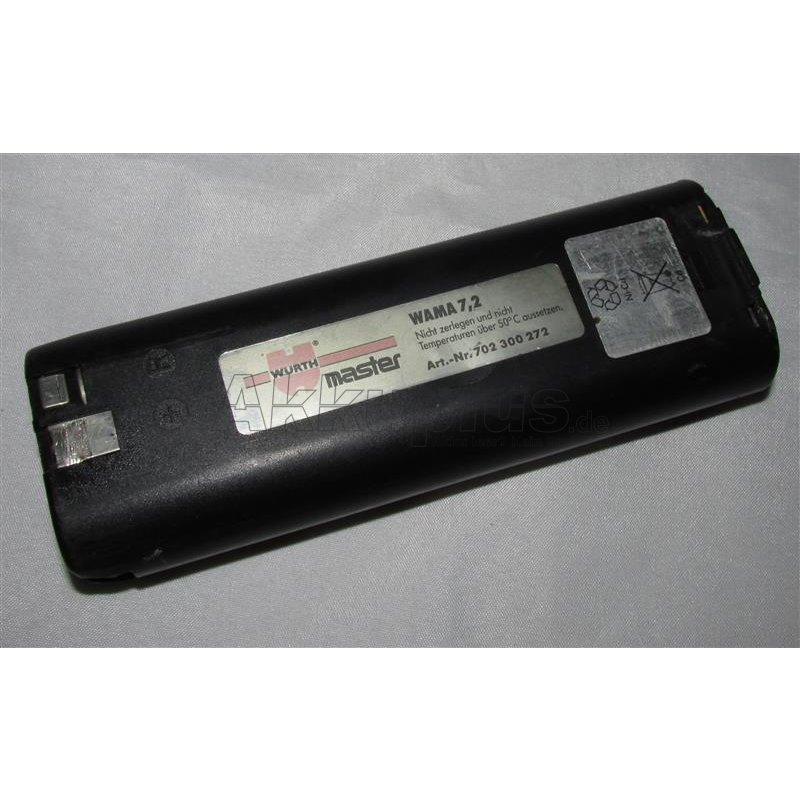 Akkureparatur - Zellentausch - Würth WAMA 7,2 / 702300272 - 7,2 Volt Akku