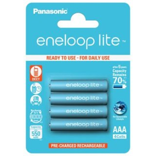 eneloop lite - BK-4LCCE/4BE - Micro AAA / HR03 - 1,2 Volt min.550mAh Ni-MH - 4er Blister