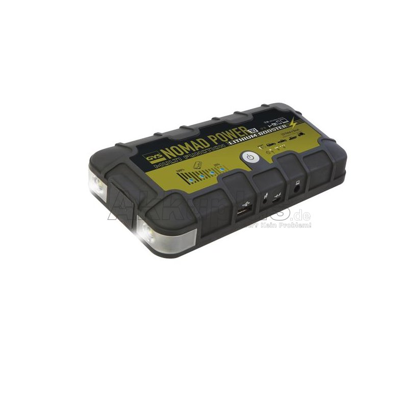 Lithium Booster - NOMAD POWER 10 - für elektrische Geräte und 12V Fahrzeuge
