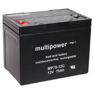 Multipower - MP75-12C - 12 Volt 75Ah Pb