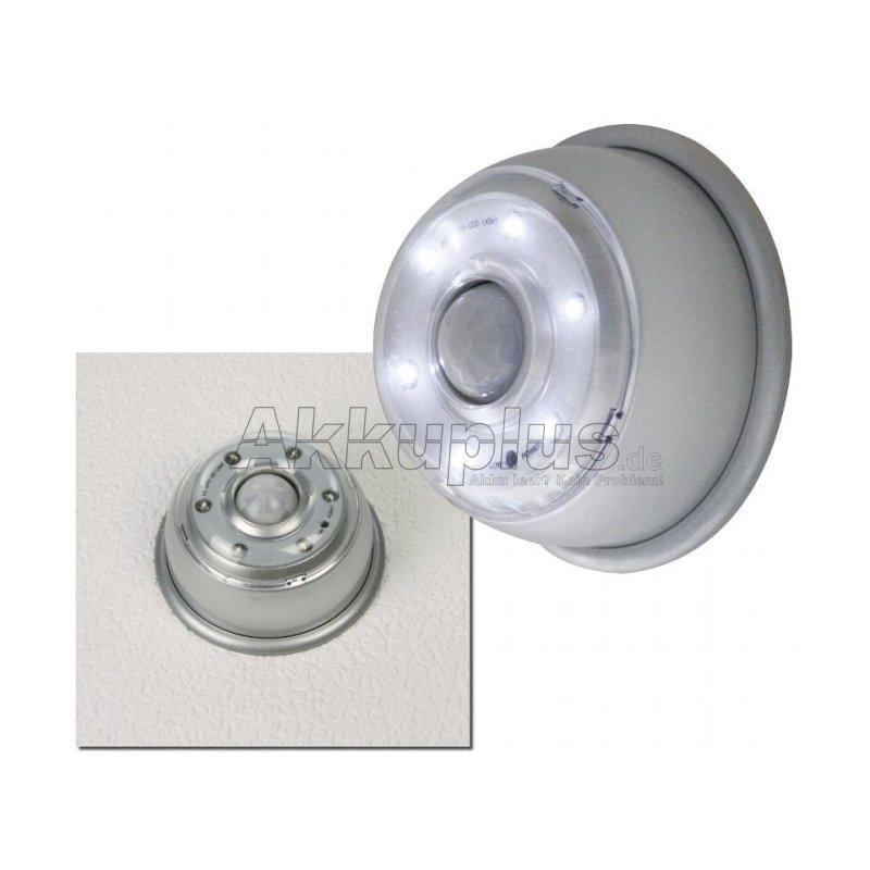 LED-Wandleuchte mit Bewegungsmelder 6 LEDs, Magnethalter, Batteriebetrieb
