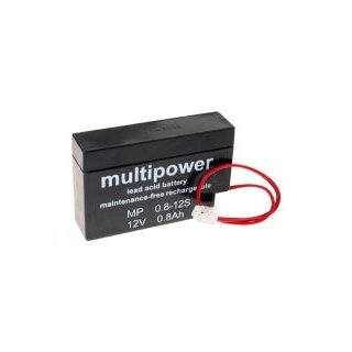 Multipower - MP0.8-12 - 12 Volt 0,8 Ah mit JST-Stecker
