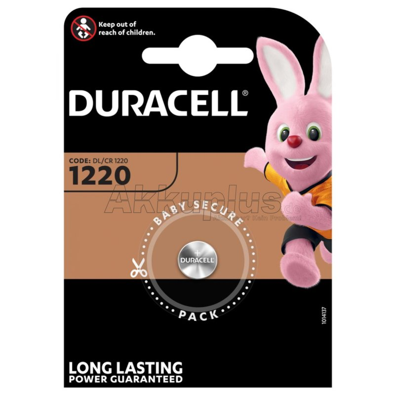 duracell cr1220 dl1220 br1220 3 volt 35mah lithium knopfze. Black Bedroom Furniture Sets. Home Design Ideas