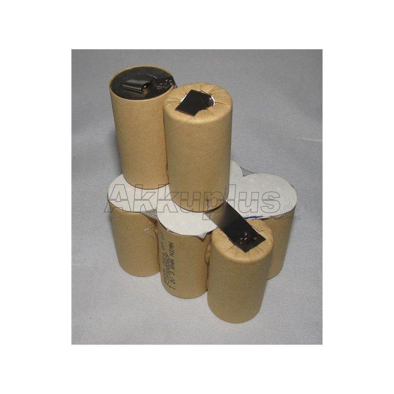 Akkupack für Makita 9120 - 9,6 Volt zum Selbsteinbau