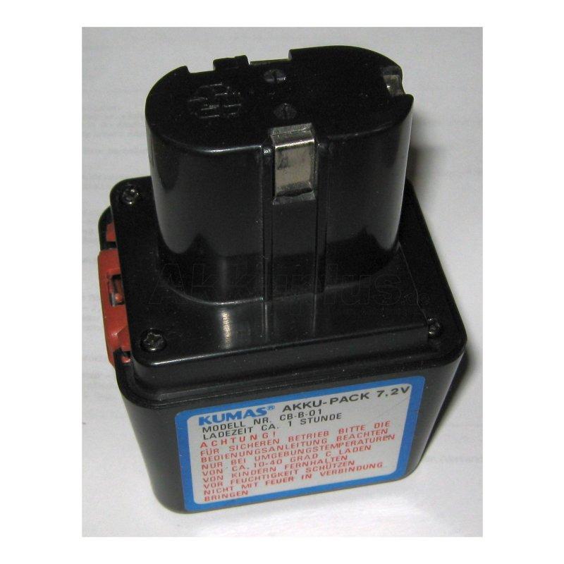 Akkureparatur - Zellentausch - KUMAS CB-B-01 - 7,2 Volt Akku