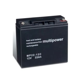 Multipower - MP22-12C - 12 Volt 22Ah Pb