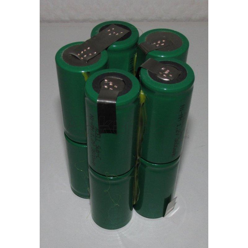 Akkupack für TREBLE-LIGHT SILVERLINE MX 8 - 12 Volt Ni-MH - zum Selbsteinbau