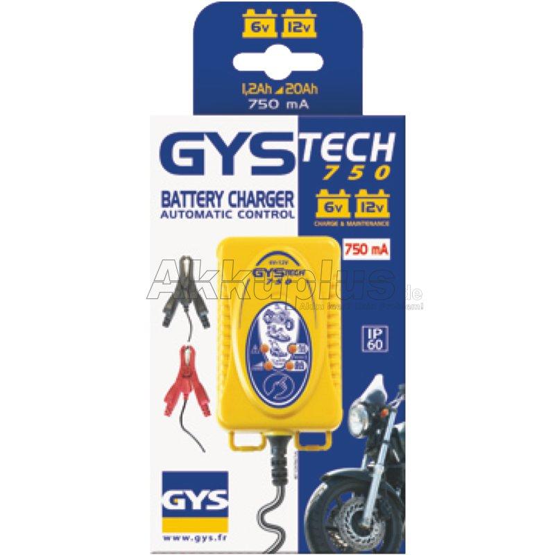 GYSTECH 750 - Ladegerät für 6/12 Volt Batterien bis 20Ah