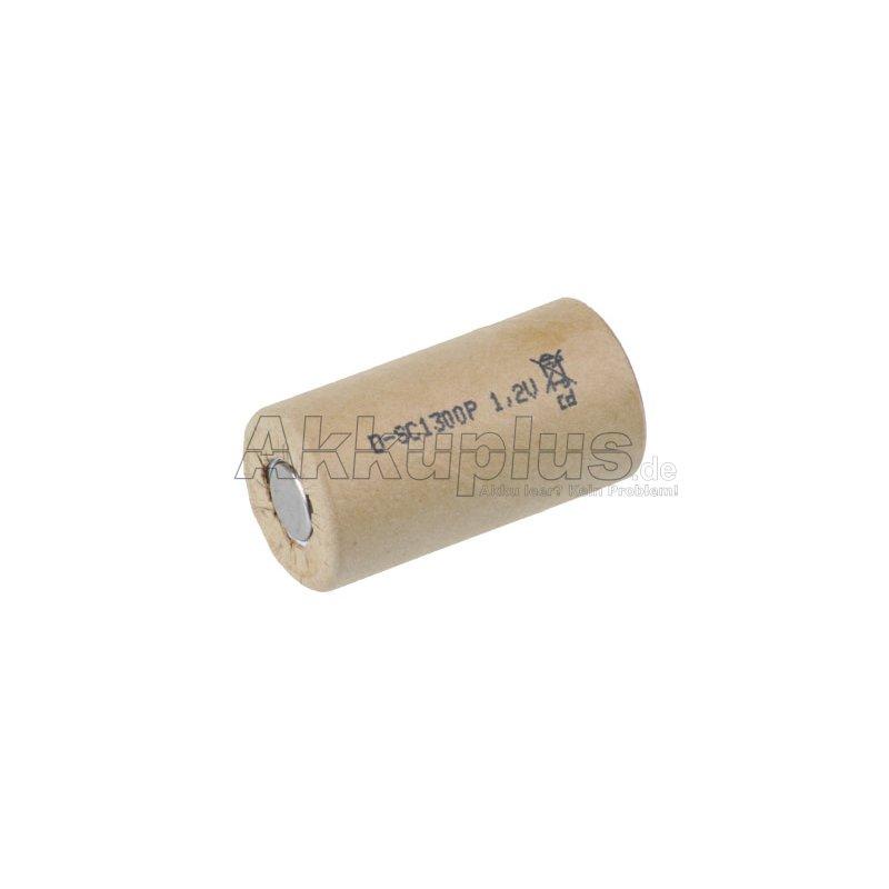 D-SC1300P - 1,2 Volt 1300mAh Ni-CD - Hochstrom - PP