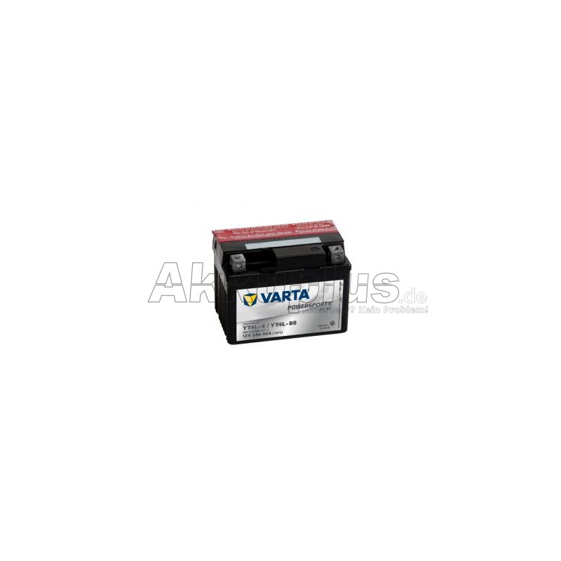 Powersports AGM - YT4L-4 / YT4L-BS - 12 Volt 3000mAh Pb