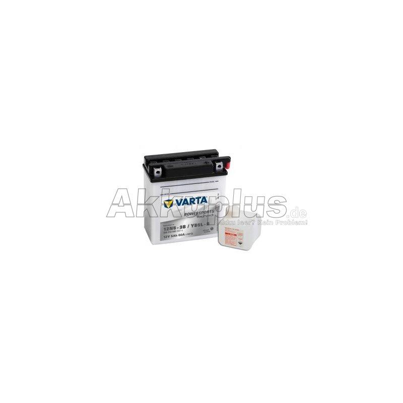 Powersports Freshpack - 12N5-3B / YB5L-B - 12 Volt 5000mAh Pb