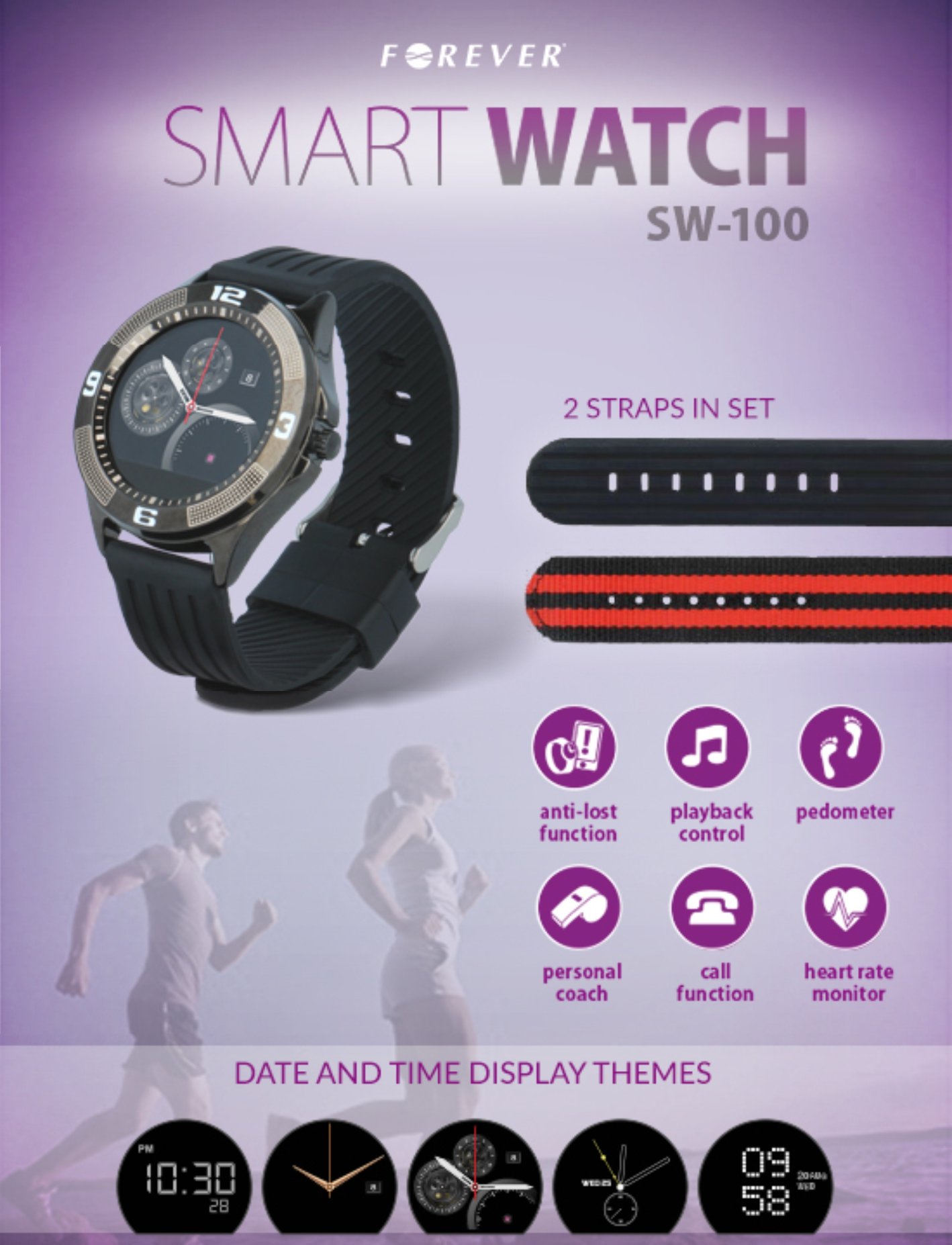 Forever SW-100 - Smart Watch - Bluetooth - 1.